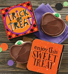 Trick Or Treat Jack O' Lantern Cookie Card