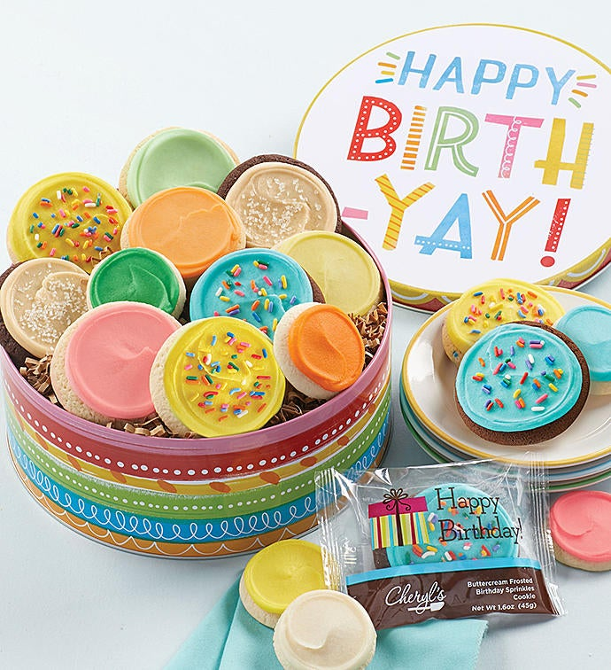 Smile Farms Birthday Gift Tin - Frosted Assortment