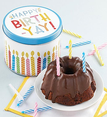 Birthday Mini Chocolate Cake and Gift Tin