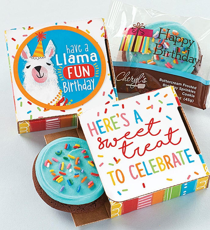 Have a Llama Fun Birthday Cookie Card