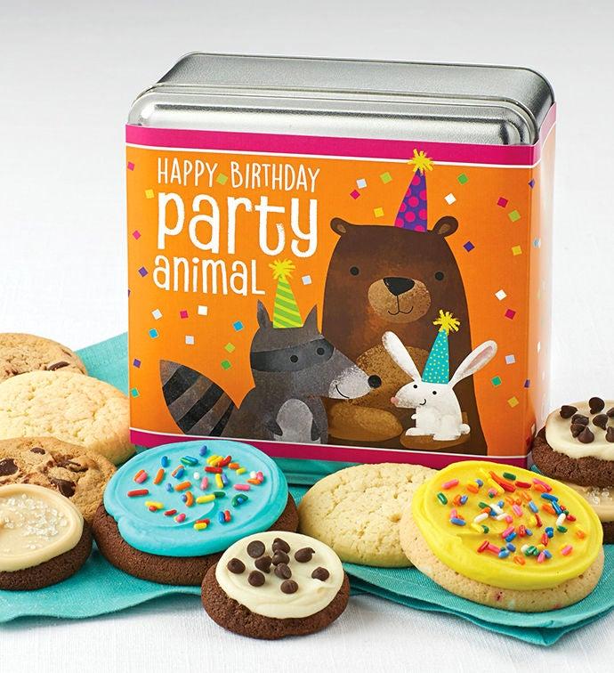 Happy Birthday Party Animal Gift Tin