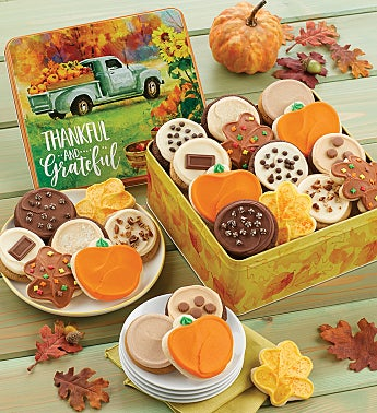 Thankful and Grateful Gift Tin – Frosted Assortment