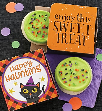Happy Haunting Cookie Card