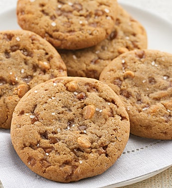 Butterscotch Almond Toffee Cookies