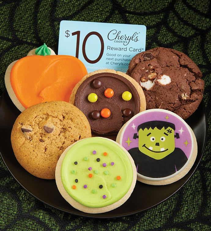 Cheryls Halloween Cookie Sampler + $10 Cheryls Reward Card