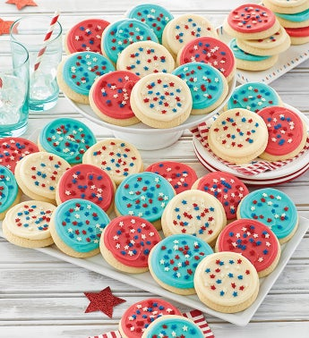100 American Frosted Cutout Cookies