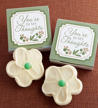 You're in My Thoughts Cookie Card - White Flower