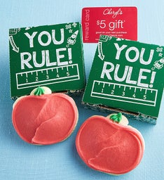 You Rule Cookie Card - Apple Cut-out