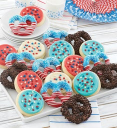 Buttercream Frosted Cookies and Pretzels