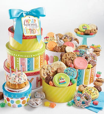 Hip Hip Hooray Birthday Gift Tin Tower