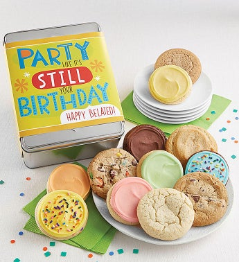 Party Like Its Still Your Birthday Gift Tin Cyo - 12Ct Bday Belated by Cheryl's