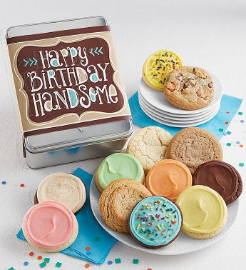 Happy Birthday Handsome Gift Tin Cyo - 12Ct Bday by Cheryl's
