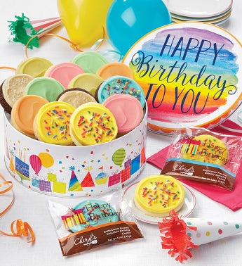 Musical Birthday Gift Tin – Frosted Assortment