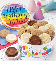 Sugar free cookies delivery sugar free brownies cheryls musical birthday gift tin sugar free assortment negle Choice Image