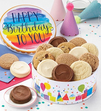 Musical Birthday Gift Tin - Sugar Free Assortment by Cheryl's