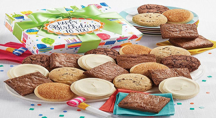 Birthday Gluten Free Cookie and Brownie Boxes