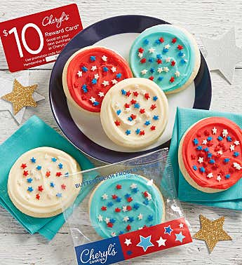 Red White and Blue Cookie Sampler