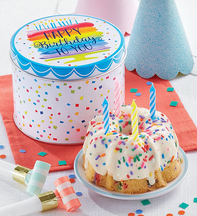 Birthday Mini Tin And Confetti Cake