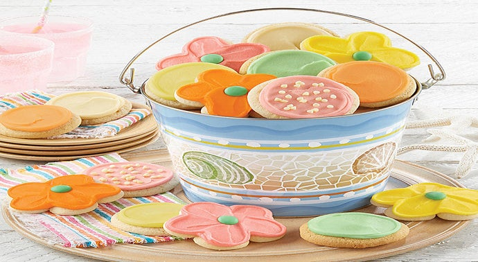 Buttercream Frosted Summer Cookie Pail