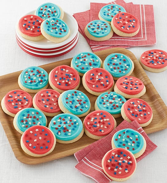 Cheryls 36 Buttercream Frosted Summer Celebration Cookies