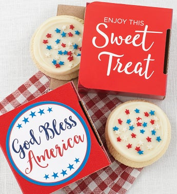 God Bless America Cookie Card