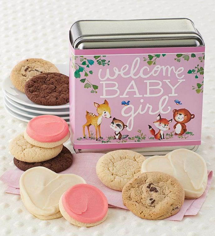 Welcome Baby Girl Gift Tin