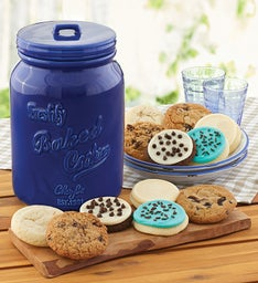 Collectors Edition Fathers Day Cookie Jar and  Month Refill