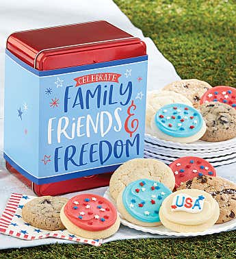 Family Friends and Freedom Mini Gift Tin