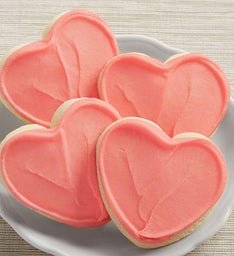 Buttercream Frosted Pink Heart Cut-out