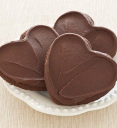 FUDGE FROSTED HEART CHOCOLATE CUT-OUT