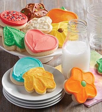 Buttercream Frosted Cut-out Cookie of the Month Pay-as-you-go Club – 24 cookies