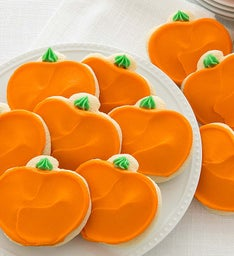 Buttercream frosted Pumpkin Cut-out Cookies
