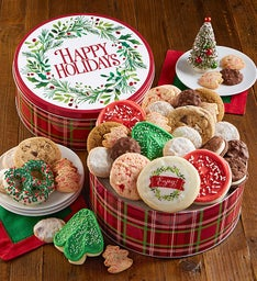 Happy Holidays Treats Gift Tin