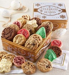 Celebrate the Season Gift Tin Holiday Cookie Assortment