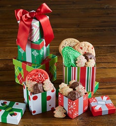 Holiday Gift Towers Set of 2