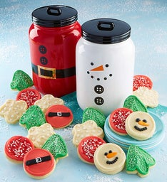 Collector's Edition Snowman and Santa Cookie Jars