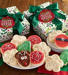 Happy Holiday Buttercream Frosted Cookie Gift Boxes