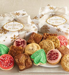 Celebrate The Season Cookie & Brownies Gift Boxes
