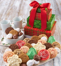 Holiday Cookies and Chocolates Gift Tower