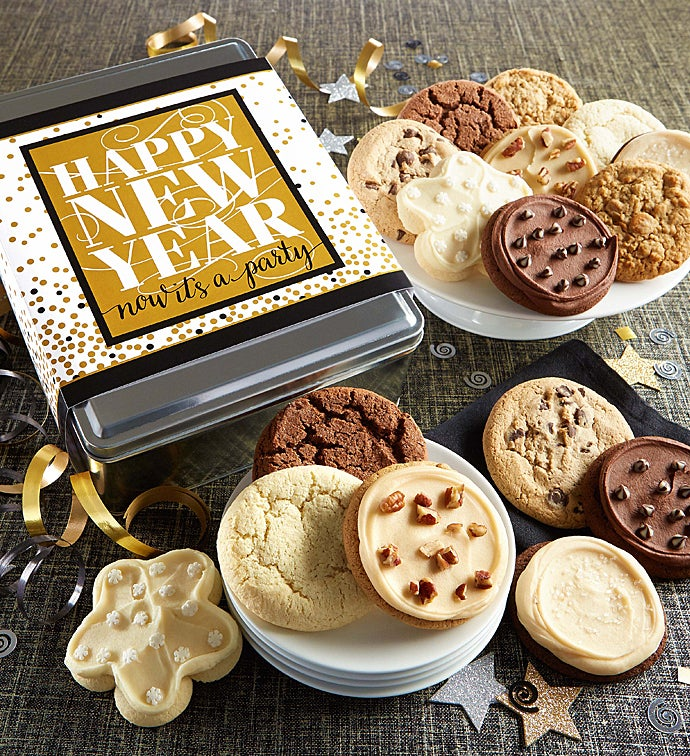happy new year gift tin
