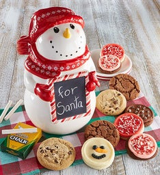 Collector's Edition Snowman Chalkboard Cookie Jar