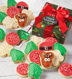 Happy Holidays Buttercream Frosted Cut-out Cookie Gift Box