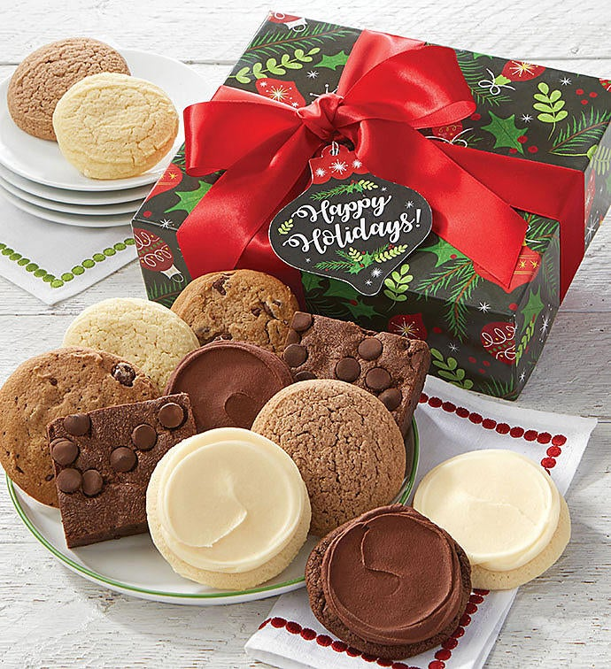 Sugar free happy holidays cookie brownie gift box negle Image collections