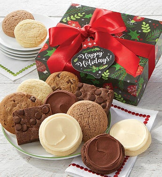 Sugar Free Happy Holidays Cookie & Brownie Gift Box