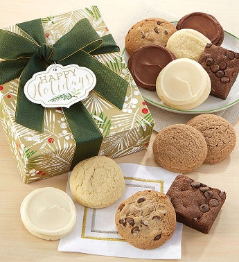 Sugar Free Happy Holidays Sparkling Cookie & Brownie Gift Box