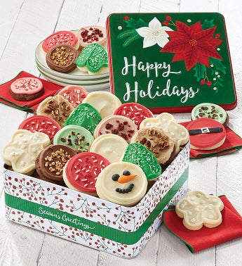 Premier Happy Holidays Gift Tin  - Frosted Assortment