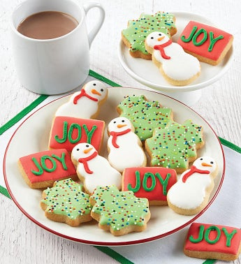 Mini Holiday Crunchy Sugar Cookies