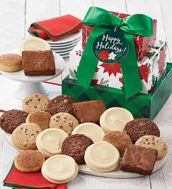 Gluten Free Happy Holidays Gift Tower