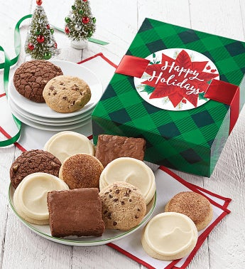 Gluten Free Happy Holidays Cookie And Brownie Gift Boxes  by Cheryl's