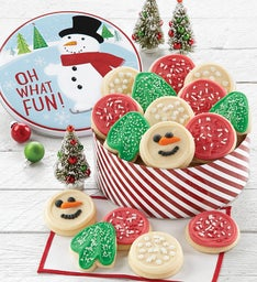 Snowman Gift Tin  Holiday Cutouts